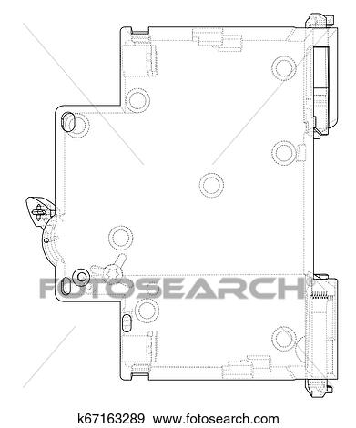 Automatic circuit breaker concept. Vector Clip Art