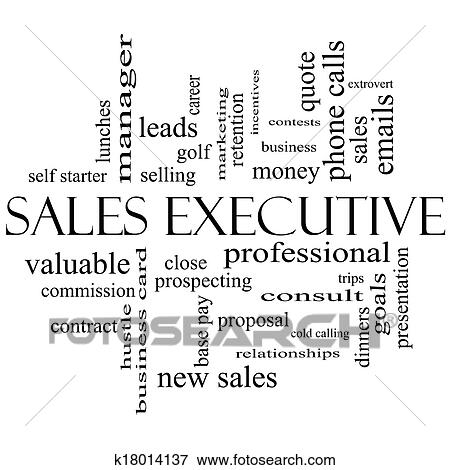 Stock Illustration of Sales Executive Word Cloud Concept