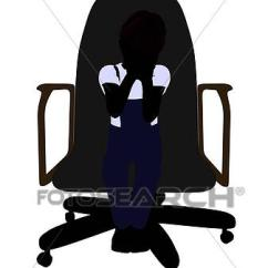 Office Chair Illustration Allsteel Relate Instructions Drawing Of A Boy Sitting In Silhouette K3684693 Fotosearch Search Clipart