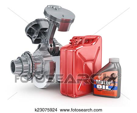 Motor oil canister and jerrycan. Stock Illustration | k23075924 | Fotosearch