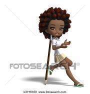 stock illustration of cute little