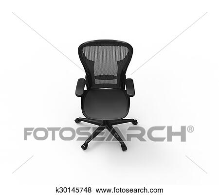 office chair illustration best posture support stock of black modern top view k30145748