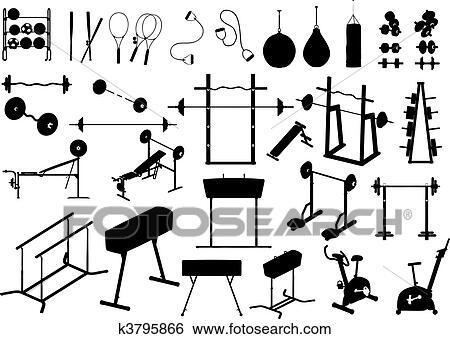 Gym equipment (vector) Clip Art k3795866