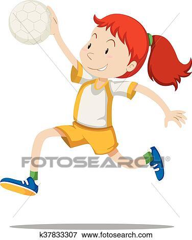 handball clip art k37833307 fotosearch