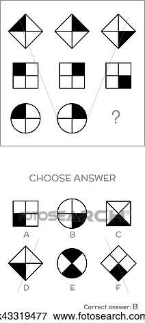 IQ test. Choose correct answer Clip Art | k43319477 | Fotosearch