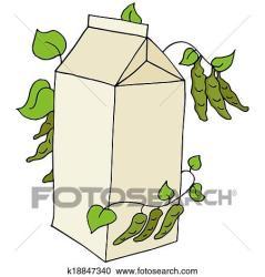 soy milk clipart fotosearch clip carton