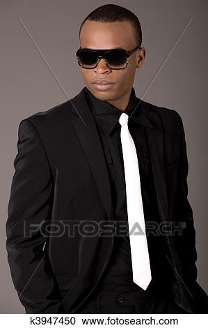 handsome black man in