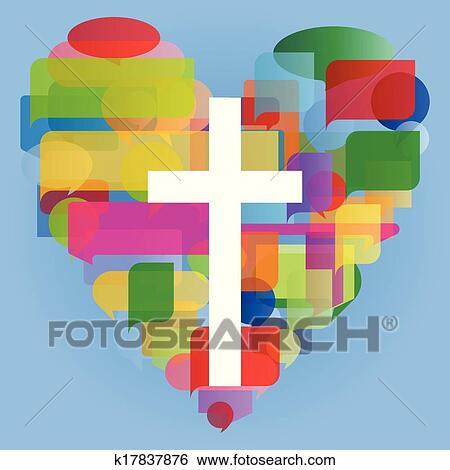 美工圖案 - 基督教, 宗教, 產生雜種, 馬賽克, 心, 概念, 抽象, 背景;, 插圖, 矢量, 為, 海報 k17837876 - 搜尋美工 ...