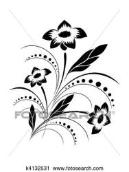 Background with a vector flower pat Clipart k4132531 Fotosearch