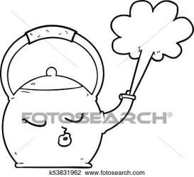 Cartoon boiling kettle Clipart k53831962 Fotosearch