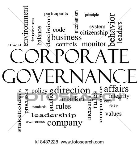 Pictures of Corporate Governance Word Cloud Concept in