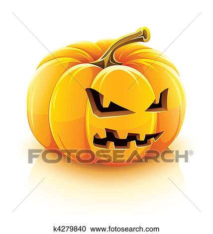clipart of angry jack-lantern