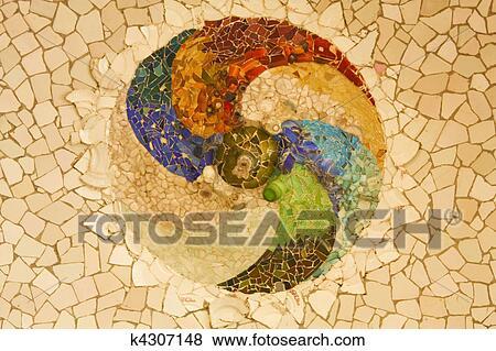 Immagini  gaudi mosaico rosetta k4307148  Cerca Archivi fotografici Immagini Fotografie