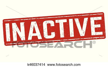 Inactive sign or stamp Clipart   k46037414   Fotosearch