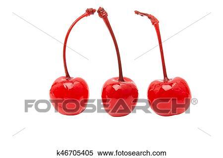 Maraschino cherry isolated Stock Photography | k46705405 | Fotosearch