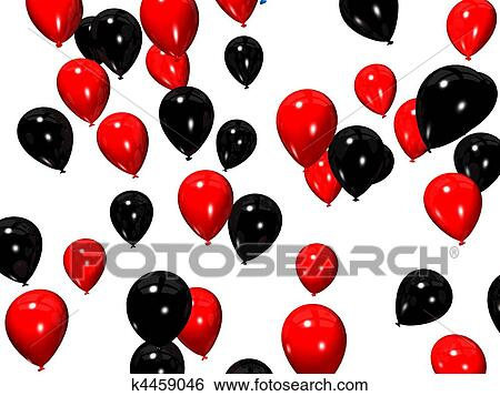 stock illustration of red and black