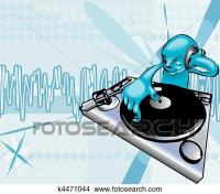 Clipart of funky dj illustration k4471044 - Search Clip ...
