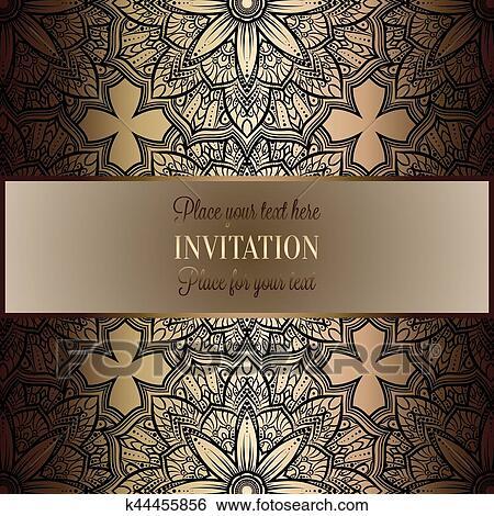 baroque fond a antiquite luxe noir or vendange cadre victorien banniere damasse floral papier peint ornements invitation carte style