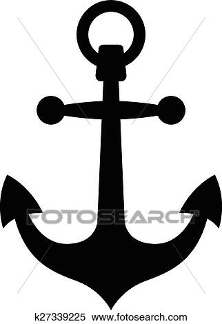 simple black anchor silhouette