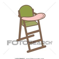 Green High Chair Wheelchair Gst Clipart Of Vector Illustration Baby For Feeding Wooden Fotosearch