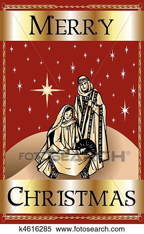 clipart of merry christmas red