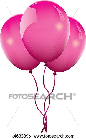 clipart of pink balloon k4633895