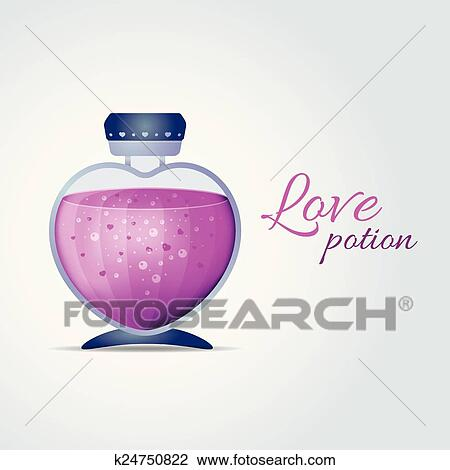 Download Vector Love Potion for Valentines Day cards Clipart ...