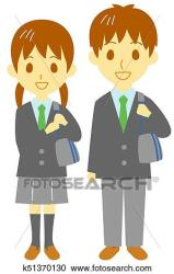clipart clip students fotosearch highschooler illustration boy