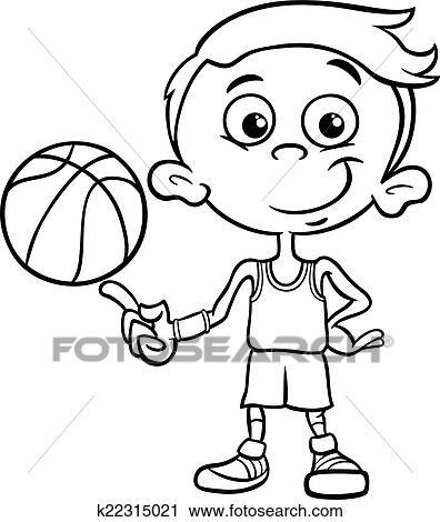 剪圖Clipart - 男孩, 籃球選手, 著色, 頁 k22315021 - 搜尋美工圖片,插圖壁畫,圖示和向量 EPS 圖像 - k22315021.eps