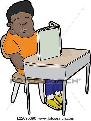 clipart of sleeping student