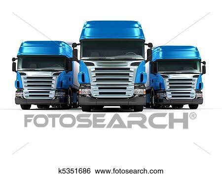 Banco de Imagens  pesado azul caminhes isolado