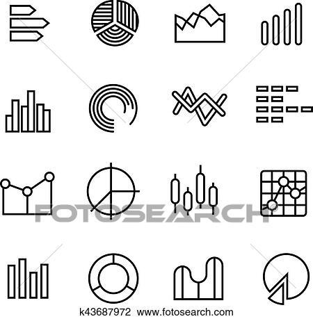 Clipart of Graph, data chart, statistics representation