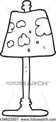 Black and white cartoon lamp Clipart k34623301 Fotosearch