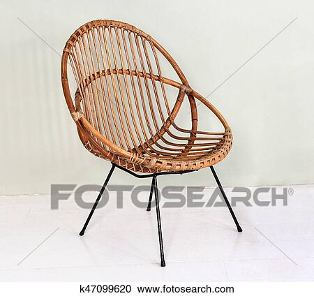 comfortable wicker chairs rocking chair gliders stock photography of round k47099620 with metal legs made intertwined willow canes in an interior decor and design concept