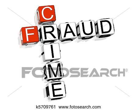 Stock Photography of Crime Fraud Crossword k5709761