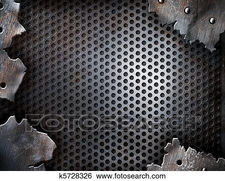 Stock Illustration of grunge crack metal background with
