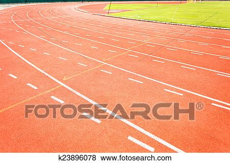 Running track for athletics Stock Photo   k23896078   Fotosearch