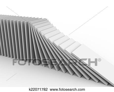 3d. ドミノ 効果 スケッチ | k22071782 | Fotosearch
