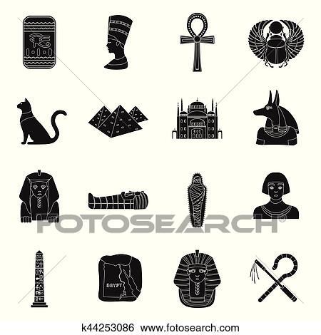 ancient egypt set icons