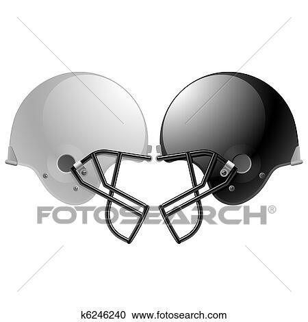 Football Helmets Clipart K6246240 Fotosearch