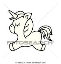 Clipart - carino, fantasia, unicorno, icona k42367275 ...