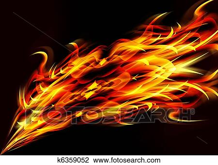 abstract flames drawing