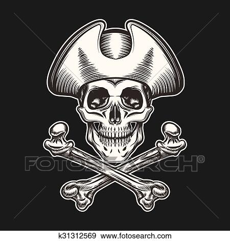Clip Art of Pirate Skull k31312569 Search Clipart