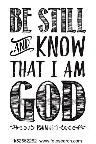 Be Still and Know that I am God Bible Scripture Poster
