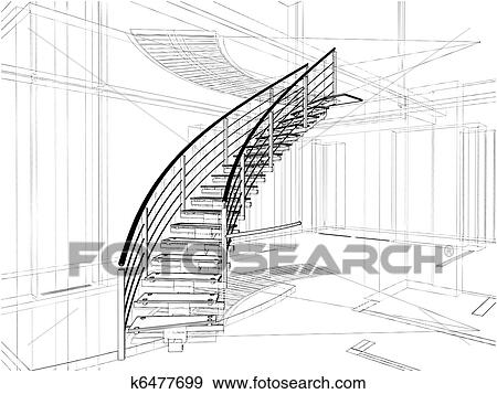 Abstract Spiral Staircases Clip Art k6477699
