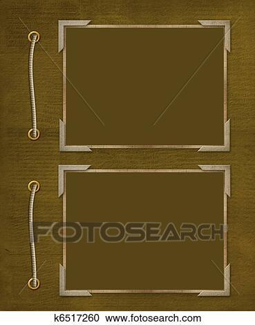 Photo Album Clipart : photo, album, clipart, Frame, Photo, Abstract, Background., Album, Clipart, K6517260, Fotosearch