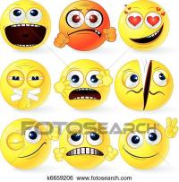 Clip Art of Funky Smilies 3 k6659206 - Search Clipart ...