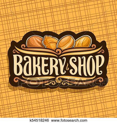 Vector Logo For Bakery Shop Clip Art K54518246 Fotosearch