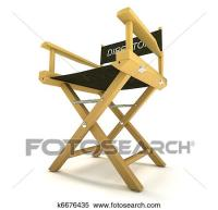 Stock Image of filmmaker or producer: directors chair on ...