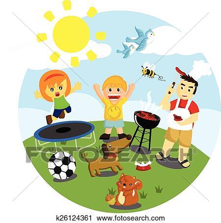 clipart of outdoor activities k26124361
